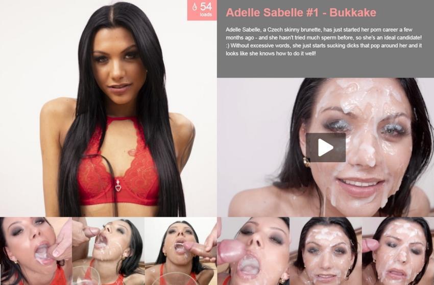 PremiumBukkake.com: Adelle Sabelle -,  Bukkake [FullHD 1080p] (1.58 Gb)