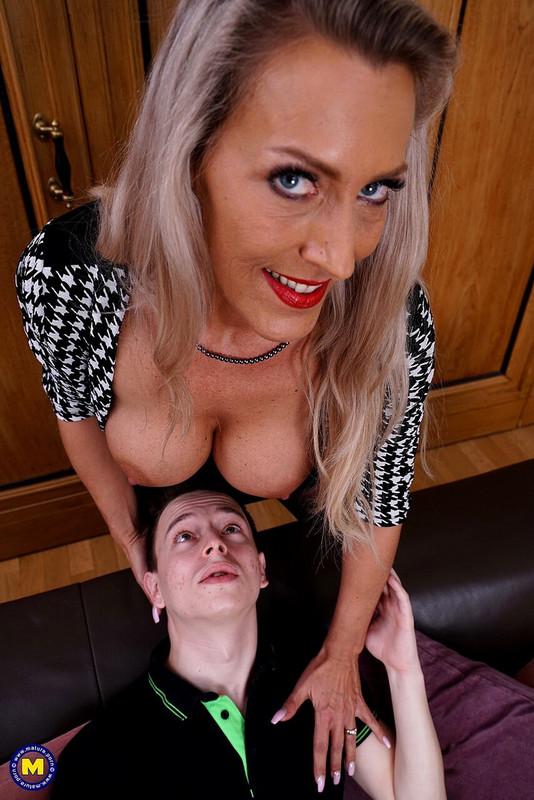 Mature.eu Mature.nl: Naughty big breasted MILF Lana Vegas seduces an innocent toy boy for hot steamy sex Starring: Lana Vegas