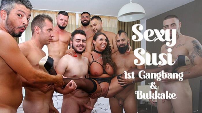 TexasBukkake.com: 1st Gangbang, Bukkake Starring: Sexy Susi